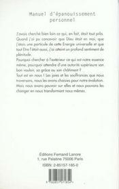 Manuel D'Epanouissement Personnel - 4ème de couverture - Format classique