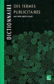 Dictionnaire Des Termes Publicitaires - Couverture - Format classique
