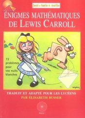 Enigmes mathematiques de lewis carroll - Intérieur - Format classique