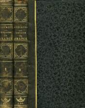 Histoire De France Depuis Les Temps Les Plus Recules Jusqu'A La Revolution De 1789, Tomes I & Ii - Couverture - Format classique