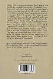 Rivesaltes, un camp en France - 4ème de couverture - Format classique