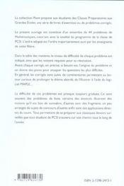 Maths Pcsi Problemes Avec Indications Et Corriges Detailles Pour Assimiler Tout Le Programme - 4ème de couverture - Format classique