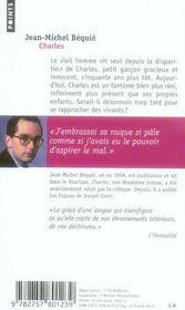 Charles - 4ème de couverture - Format classique
