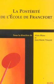 Posterite De L Ecole De Francfort - Intérieur - Format classique