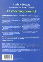 Le coaching parental : comment accompagner la reussite de vos enfants - 4ème de couverture - Format classique
