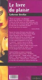 Le livre du plaisir - 4ème de couverture - Format classique