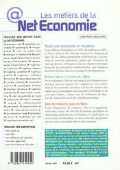 Métiers de la net economie - 4ème de couverture - Format classique