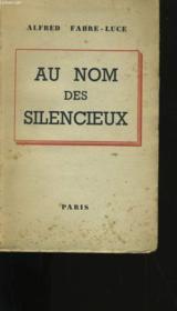 Au Nom Des Silencieux. - Couverture - Format classique