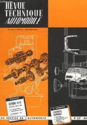 Revue Technique Automobile - N°227 - Couverture - Format classique