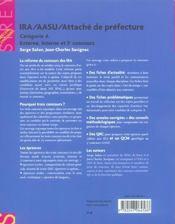 Ira (instituts reg d'administration) aasu (attache d'adm. scolaire et univ.) attache de prefecture - 4ème de couverture - Format classique