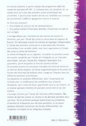ANALYSE ET GEOMETRIE DIFFERENTIELLE t.3 ; MP-MP* PREPA SCIENCES - 4ème de couverture - Format classique