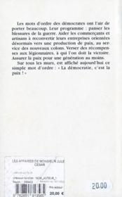 Affaires de monsieur jules cesar (les) - 4ème de couverture - Format classique