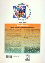 Les aliments: qualite, securite, protection du consommateur - 4ème de couverture - Format classique