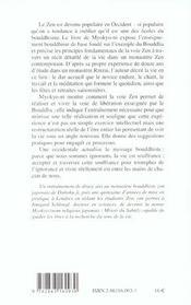 La Voie Zen - 4ème de couverture - Format classique