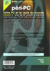 Peri-Pc Volume 2. Votre Pc Et Le Reste Du Monde - 4ème de couverture - Format classique