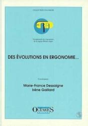 Des évolutions en ergonomie - Couverture - Format classique