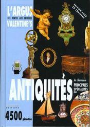 L'argus des ventes aux encheres ; antiquites 1999 - Intérieur - Format classique