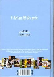 L'argus des ventes aux encheres ; antiquites 1999 - 4ème de couverture - Format classique