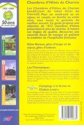 Chambres D'Hotes De Charme - 4ème de couverture - Format classique