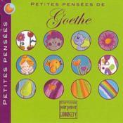 Petites pensées de Goethe - Couverture - Format classique