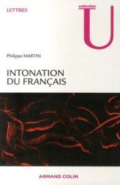Intonation du français - Couverture - Format classique