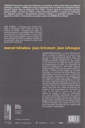 Revue Formules N.5 ; Pastiches, Collages Et Autres Réécritures - 4ème de couverture - Format classique