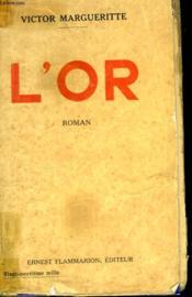 L'Or. - Couverture - Format classique