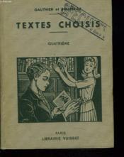 Textes Choisis. Quatrieme. - Couverture - Format classique