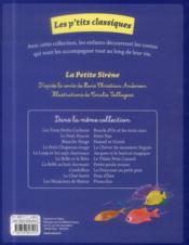 La Petite Sirène - 4ème de couverture - Format classique