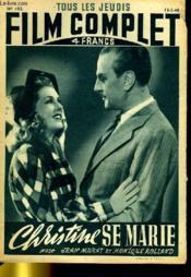 Tous Les Jeudis Film Complet N° 102 - Christine Se Marie - Couverture - Format classique
