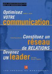 L'Encyclopedie De La Reussite T.2 ; Optimisez Votre Communication ; Constituez Un Reseau De Relations ; Devenez Un Leade - Couverture - Format classique
