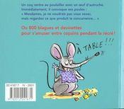 800 Histoires Droles A Deguster - 4ème de couverture - Format classique