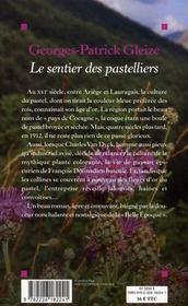Le sentier des pastelliers - 4ème de couverture - Format classique