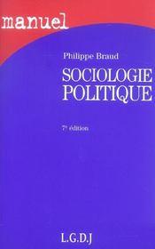 Sociologie politique 7e (7e édition) - Intérieur - Format classique
