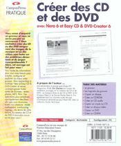 Creer Des Cd Et Dvd - 4ème de couverture - Format classique