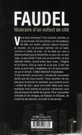 Itinéraire d'un enfant de cité - 4ème de couverture - Format classique