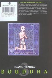 La vie de Bouddha T.3 - 4ème de couverture - Format classique