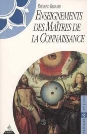 Enseignements des maîtres de la connaissance - Couverture - Format classique