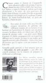 Compostelle carnet de route d'un pelerin - 4ème de couverture - Format classique