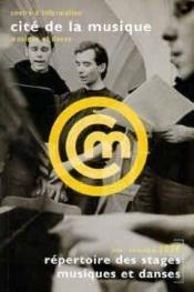 Repertoire des stages musiques et danses juin - novembre 1996 cite de la musique - Couverture - Format classique