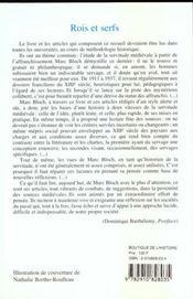 Rois Et Serfs Et Autres Ecrits Sur Le Servage - 4ème de couverture - Format classique