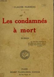 Les Condamnes A Mort. - Couverture - Format classique