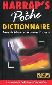 Dictionnaire Harrap's poche ; allemand-francais/francais-allemand (edition 2002) - Intérieur - Format classique