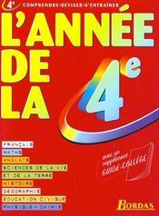 L'Annee De La 4e - Intérieur - Format classique