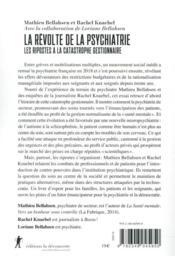 La révolte de la psychiatrie ; les ripostes à la catastrophe gestionnaire - 4ème de couverture - Format classique