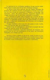 Ombres Carthaginoises - 4ème de couverture - Format classique