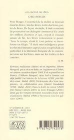 Chez Borges - 4ème de couverture - Format classique