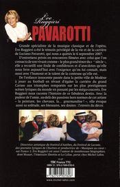 Luciano Pavarotti, il divo - 4ème de couverture - Format classique