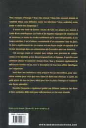 Vitalite Et Sante Par Les Jus Maison - 4ème de couverture - Format classique