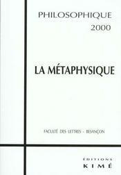 La métaphysique - Intérieur - Format classique